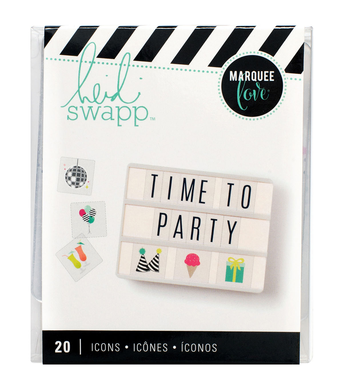 Heidi Swapp Marquee Love 20 pk Lightbox Inserts-Party