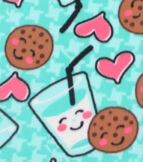Blizzard Fleece Fabric 59\u0022-Cookies And Milk Mint