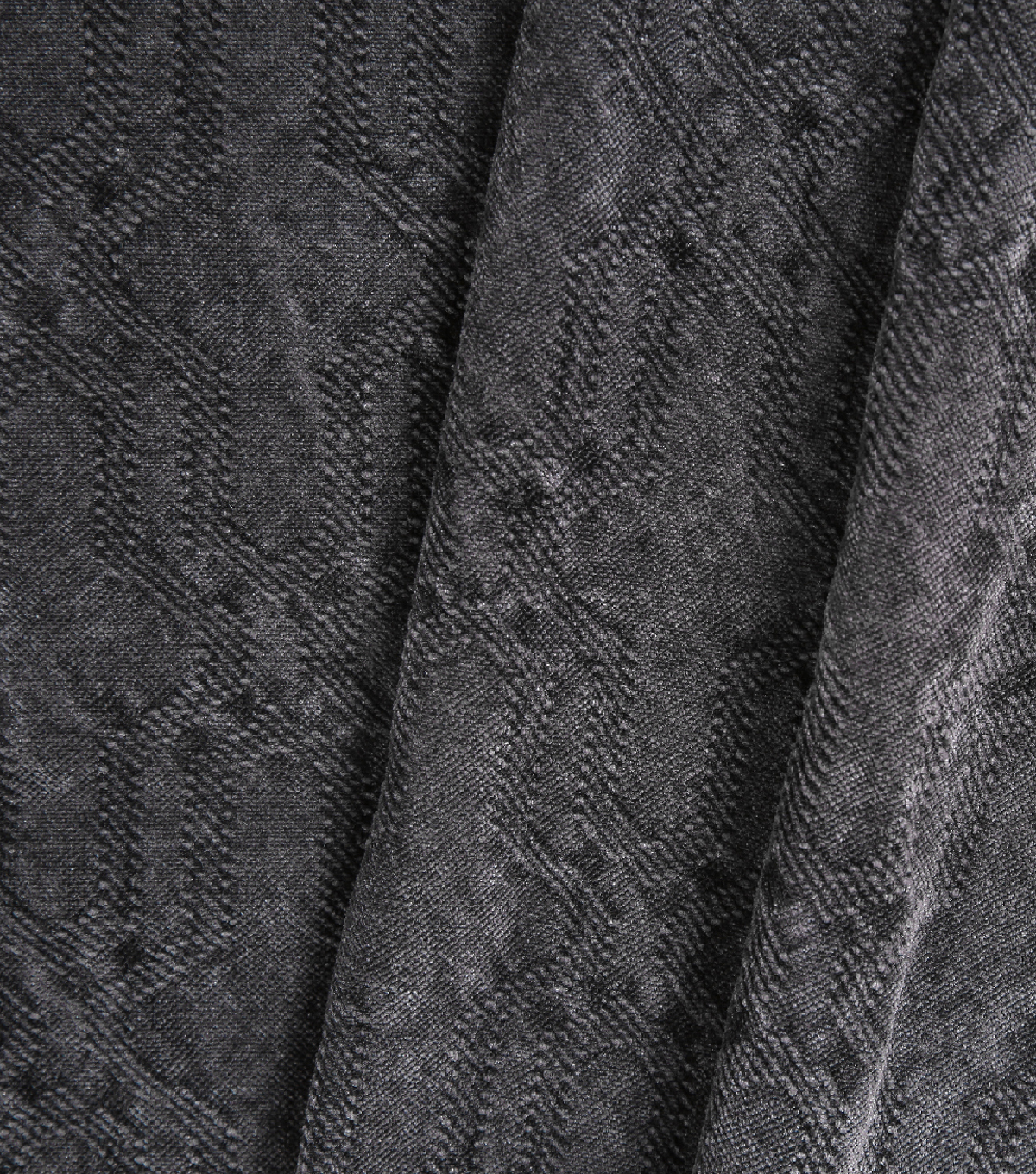 Lightweight Décor Fabric-Grey Washed Chenille