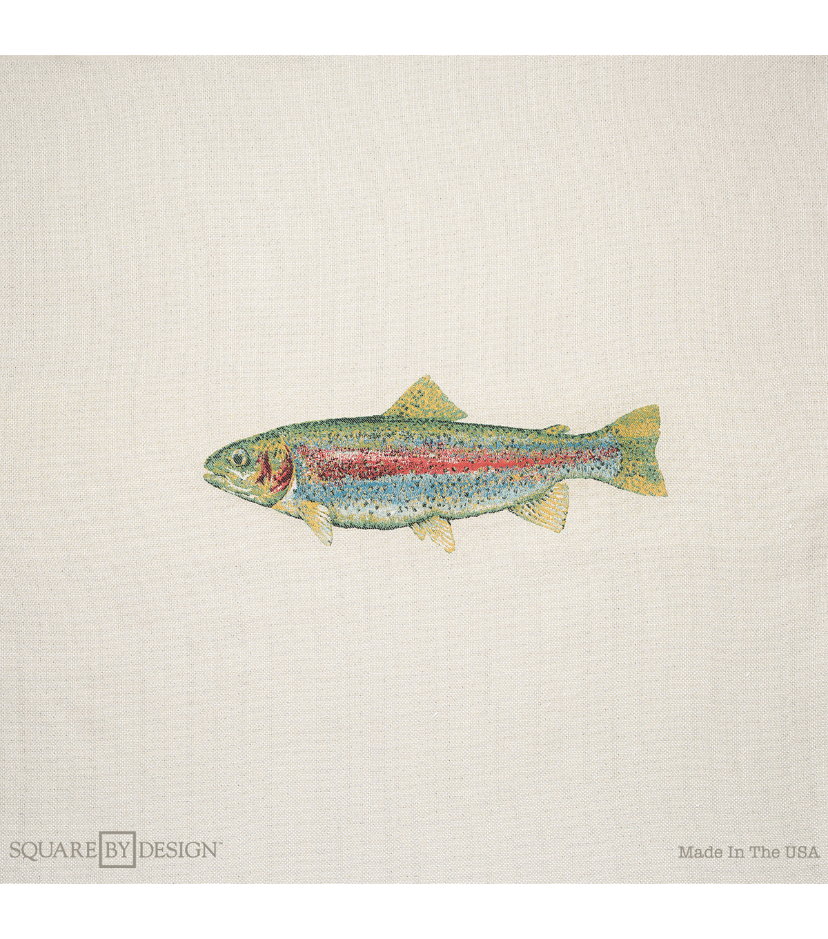 Square By Design-Trout 25\u0022 Woven Square