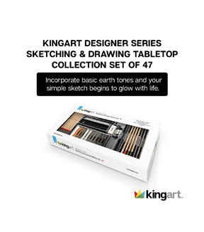KINGART Designer Series Sketch & Draw Tabletop Set 47/Pkg