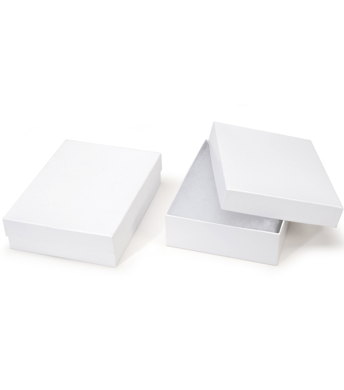 White Cardboard Jewelry Box 6 x 8 x 2 inches 2pcspkg JOANN