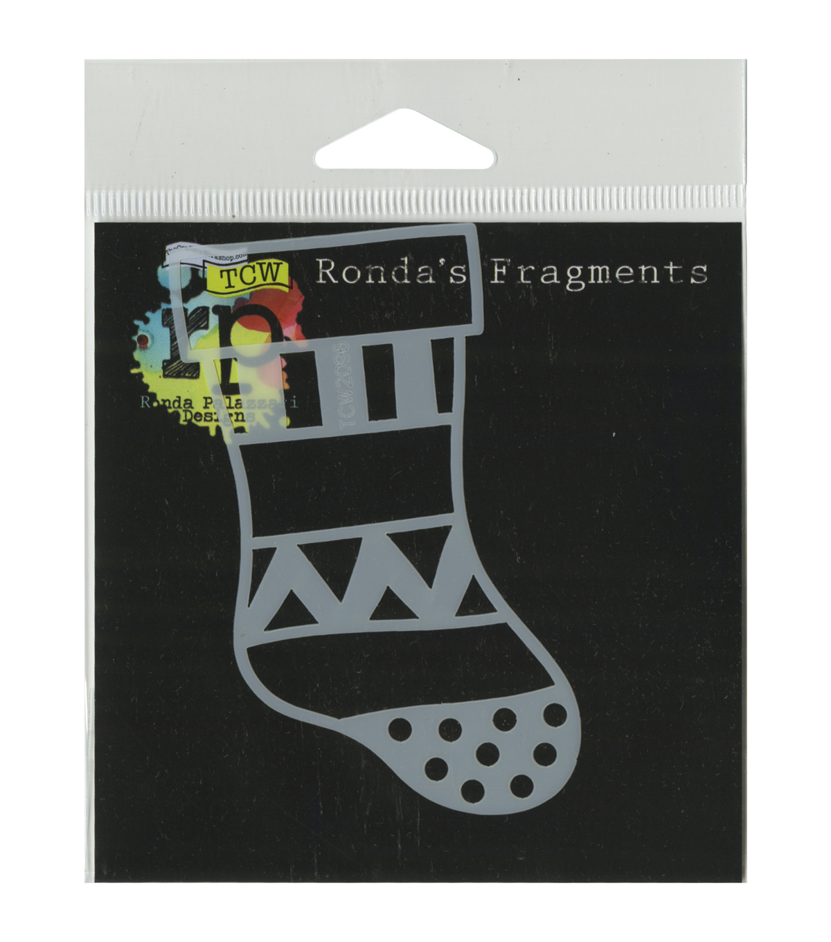 Crafter\u0027s Workshop Ronda Palazzari Fragments Template-Christmas Stocking