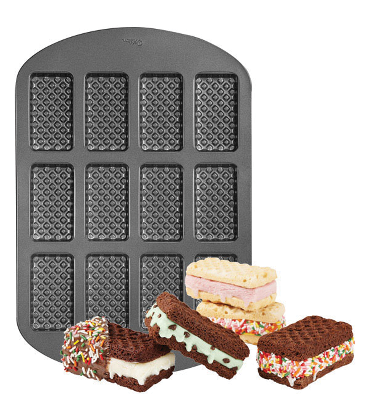 Wilton Ice Cream Sandwich Pan-12 Cavity