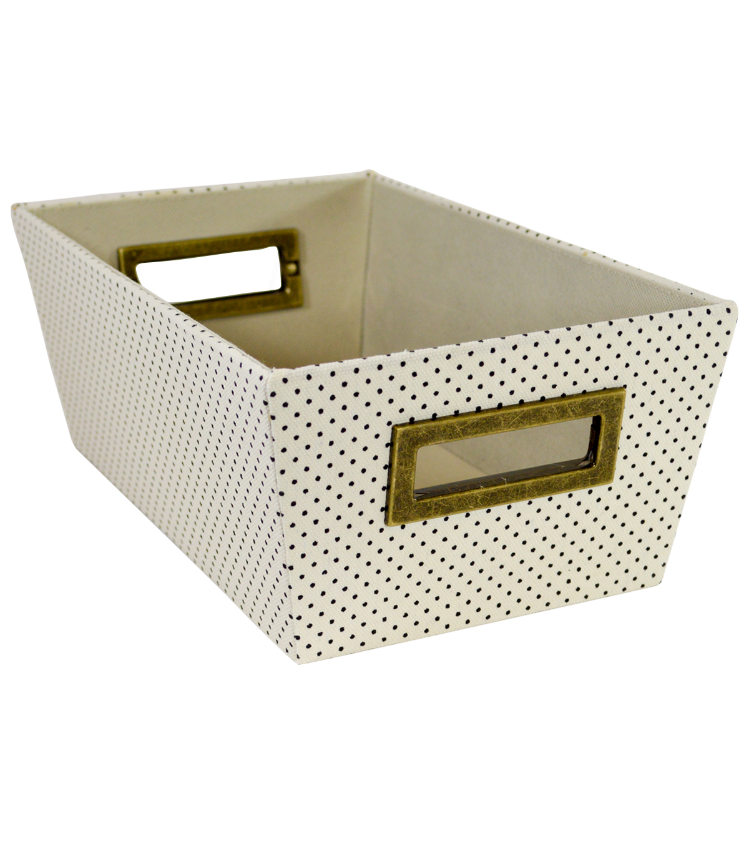 Extra Small Laundry Storage Fabric Bin Dots
