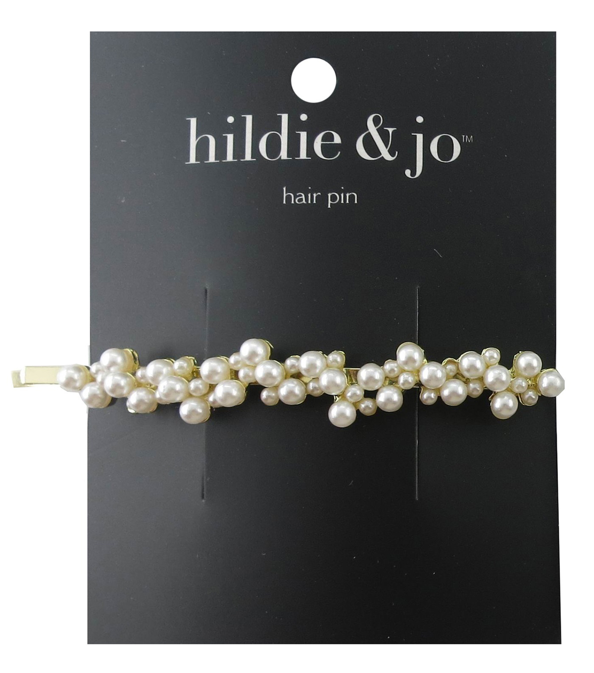 hildie & jo Gold Hair Pin-Pearl Cluster