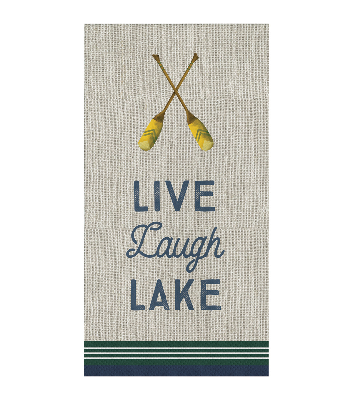 Camp Ann Lake 16 pk 8\u0027\u0027x4\u0027\u0027 Guest Napkins-Live, Laugh, Lake