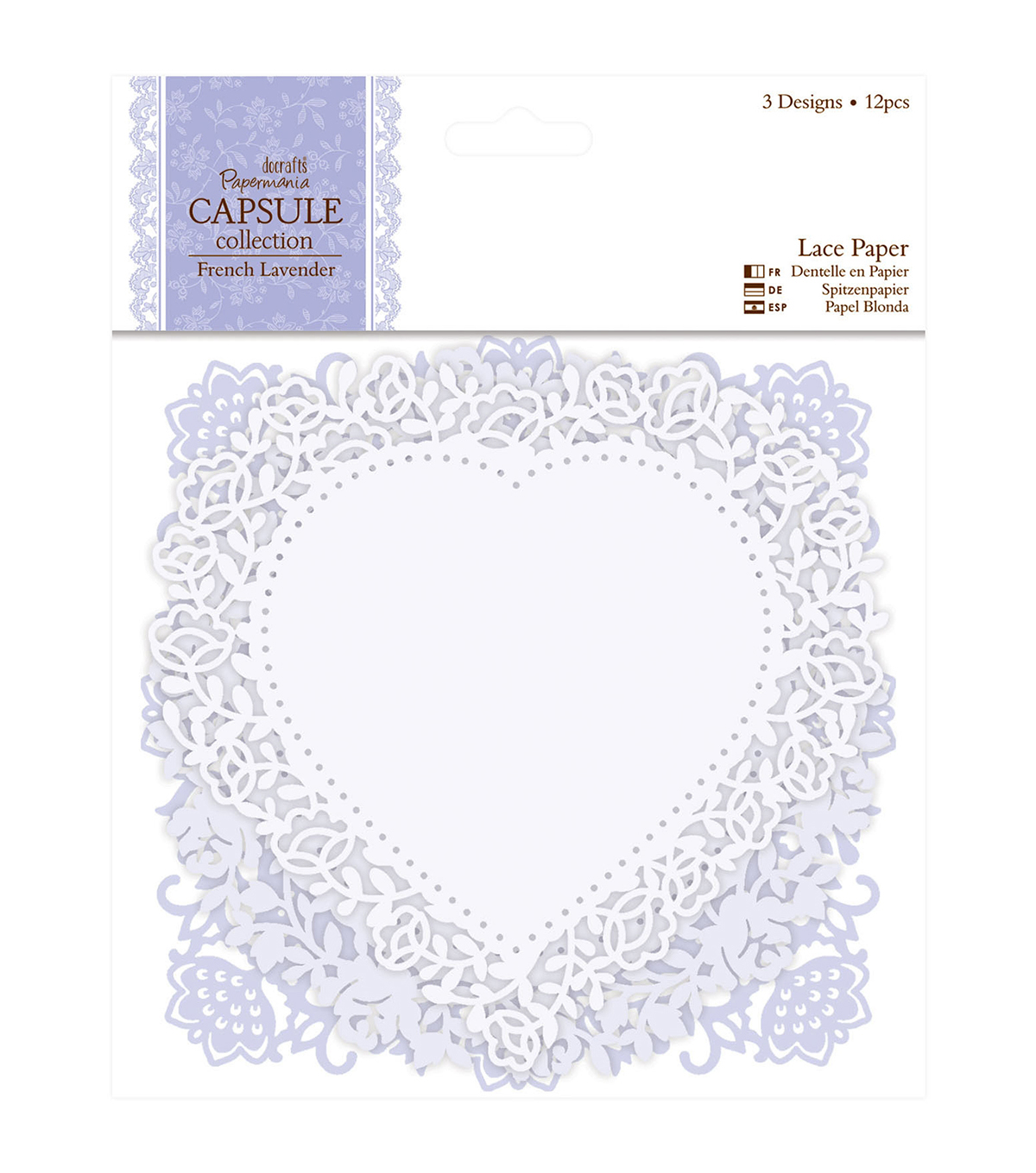 Papermania Capsule French Lavender Die-Cut Lace Paper