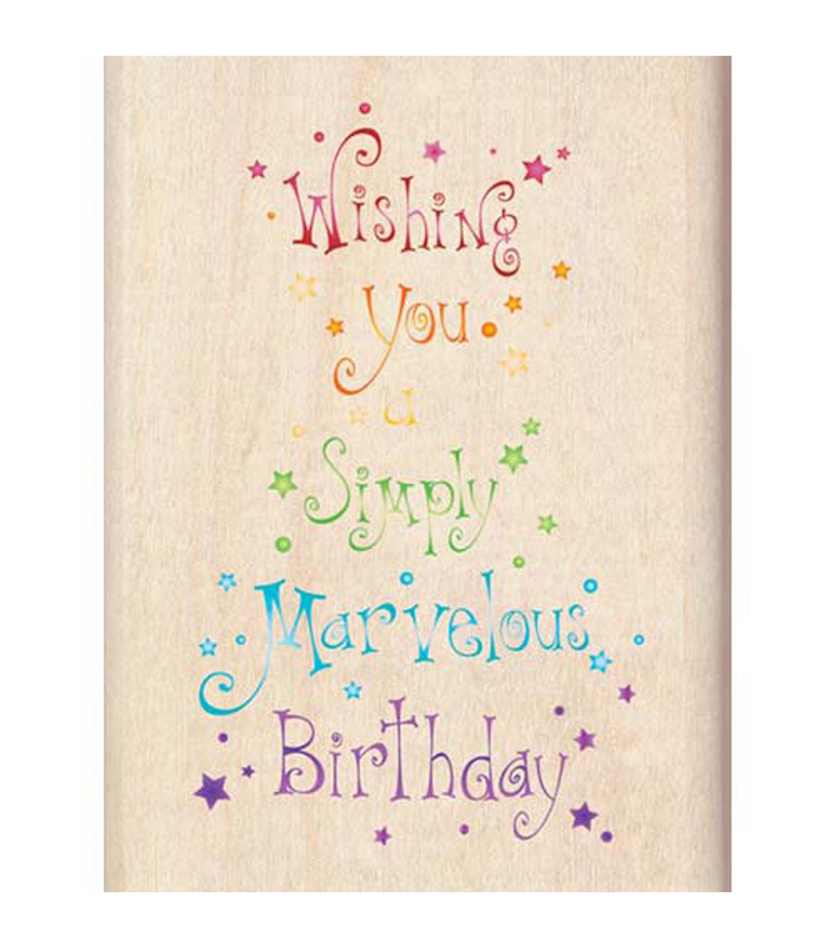Inkadinkado Marvelous Birthday Wood Mounted Stamp