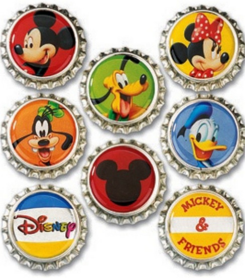 Disney Bottle Caps 8/Pkg-Mickey