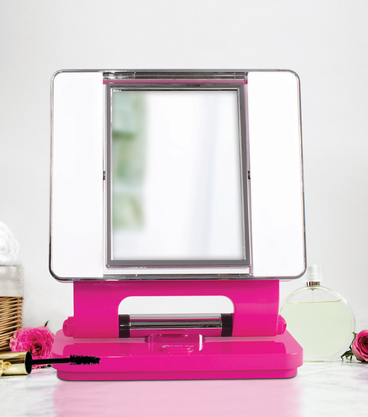 OttLite 26W Dual Sided Makeup Mirror-Hot Pink