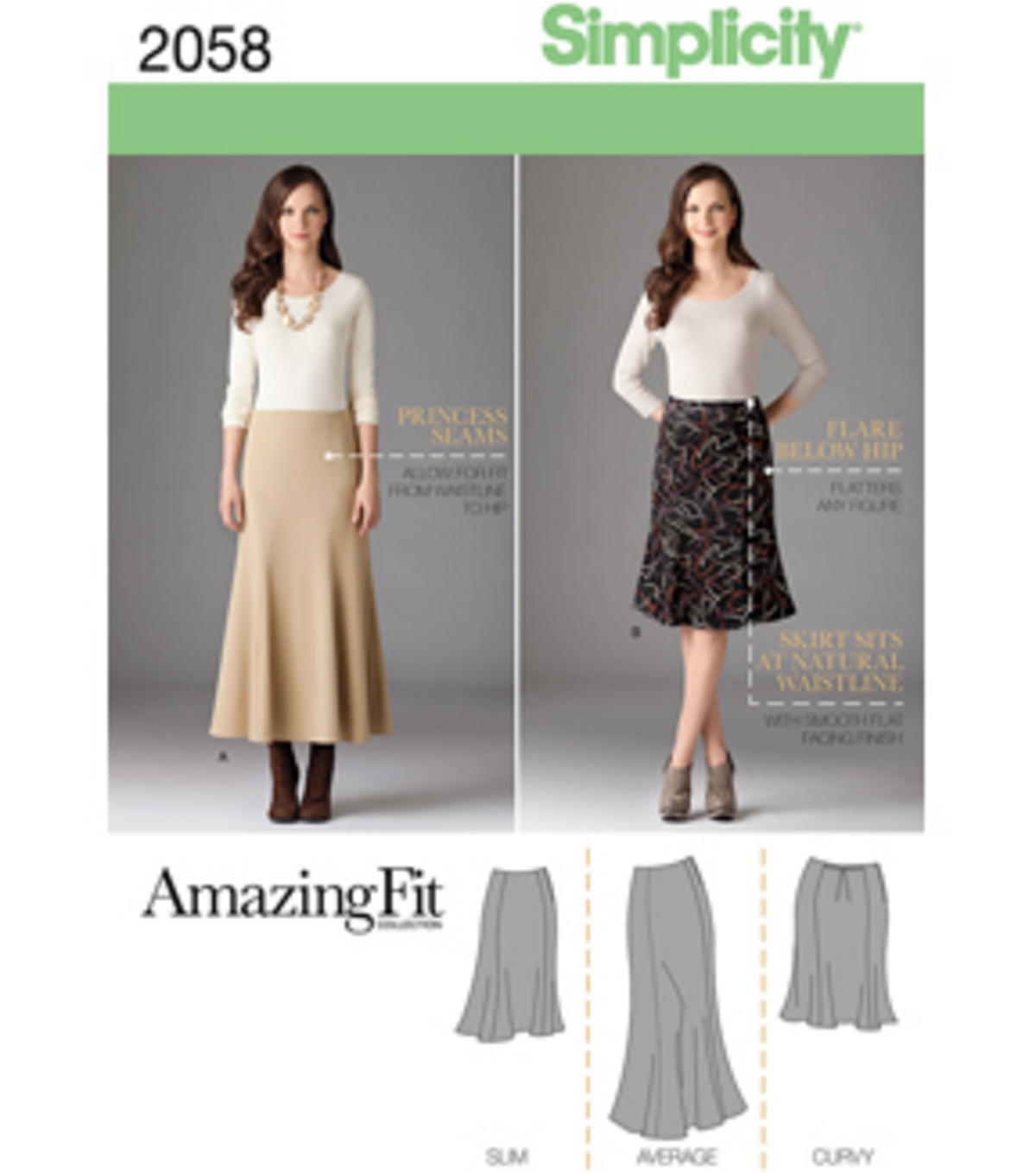 Simplicity Pattern 2058BB 20W-28W -Simplicity Misses