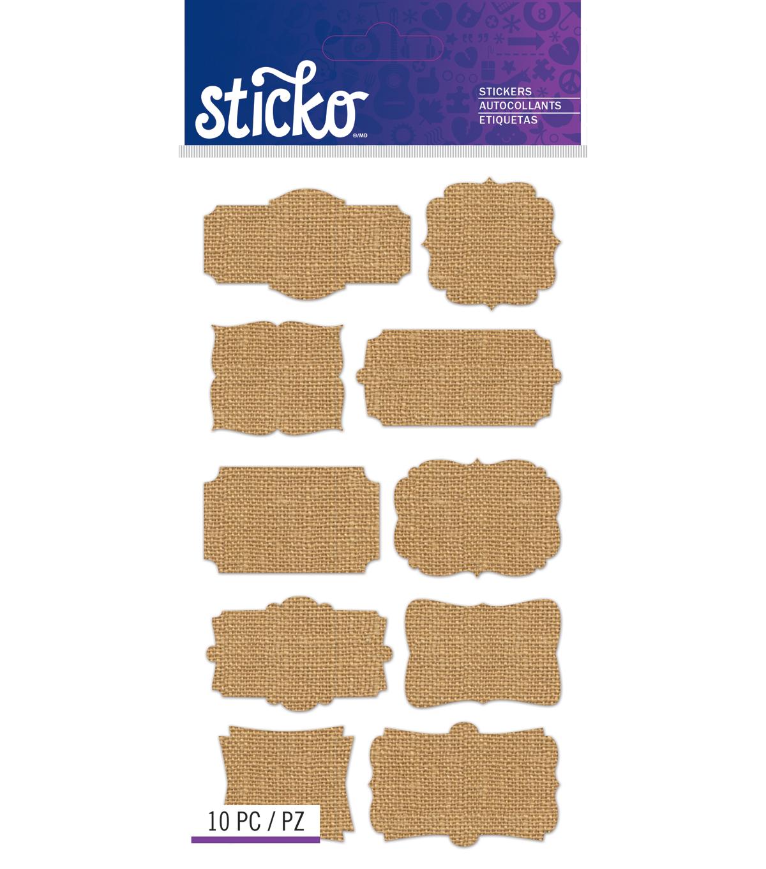 Sticko - Burlap Frame Labels | JOANN
