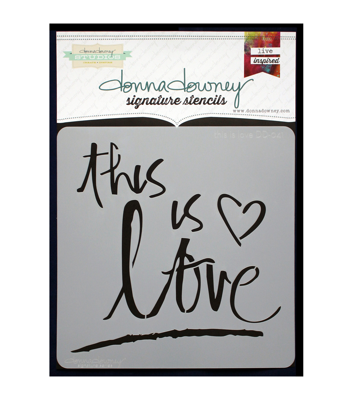 Donna Downey Signature 8.5\u0027\u0027x8.5\u0027\u0027 Stencil-This is Love