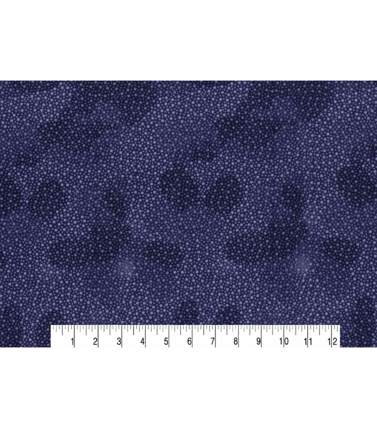 Quilter\u0027s Flannel Fabric 42\u0022-Dots on Dark Blue