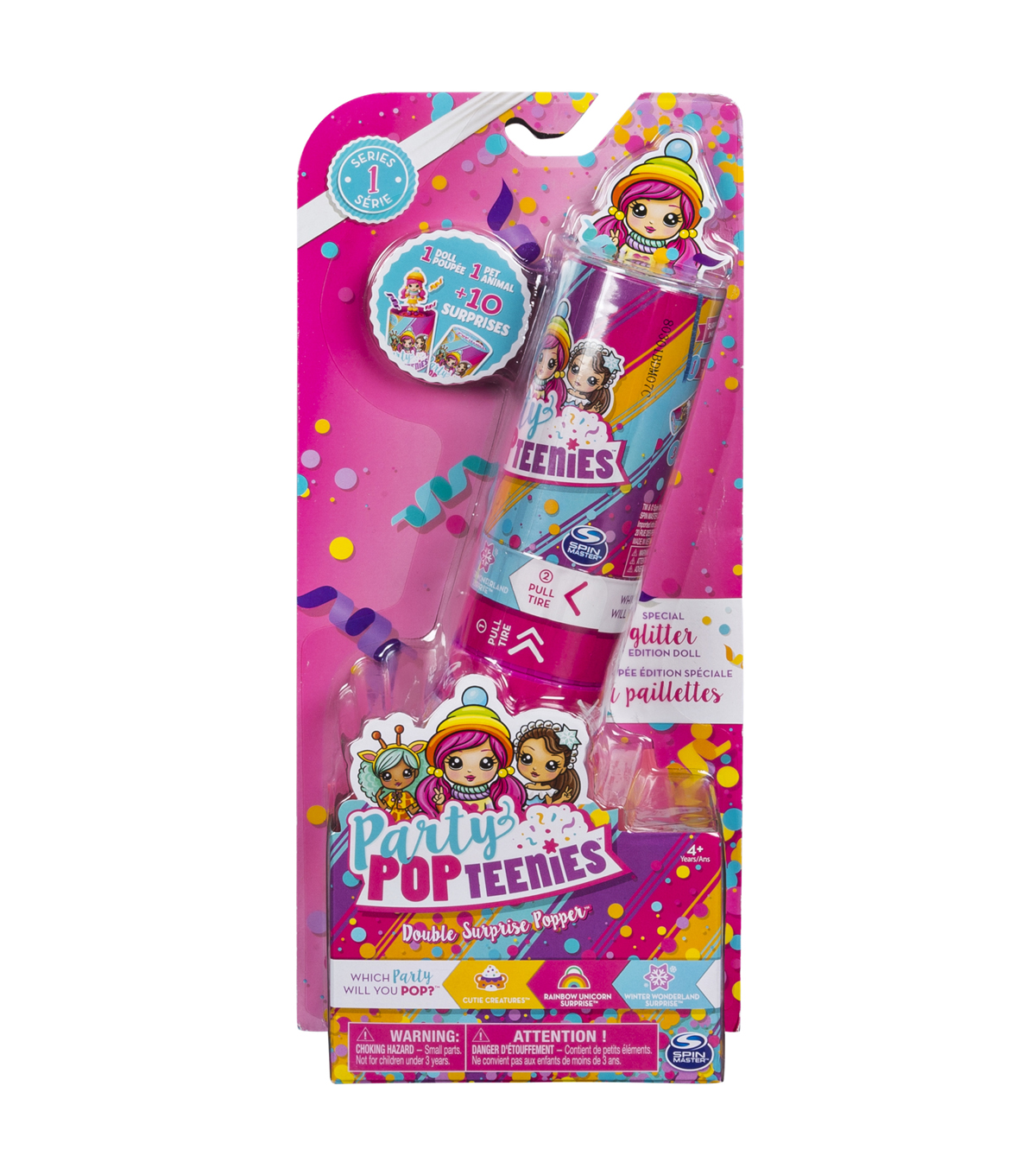 Party Pop Girls Double Surprise Poppers