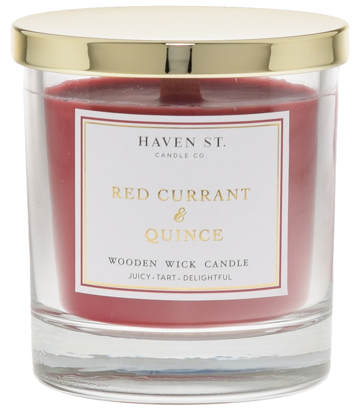 Haven St. 8oz Wooden Wick Jar Candle-Current/Quince