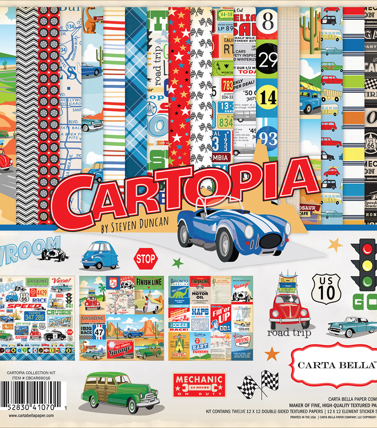 Carta Bella Collection Kit 12\u0022X12\u0022-Cartopia