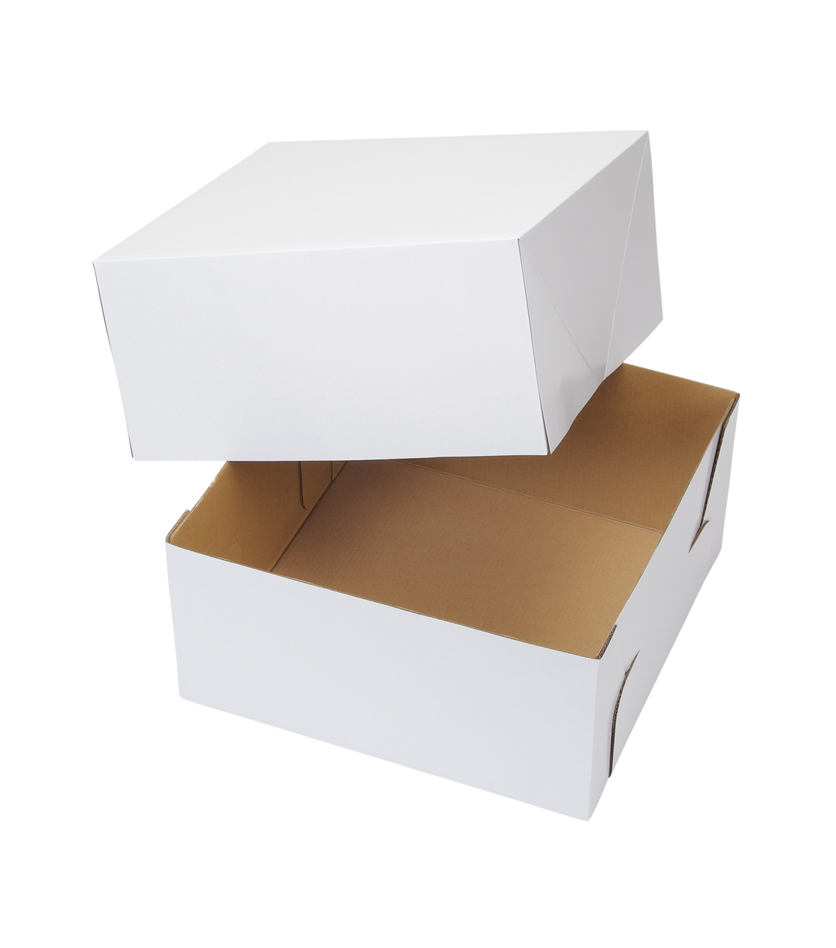 Wilton 12-Inch White Square Corrugated Cake Box, 2-Count Bakery Boxes