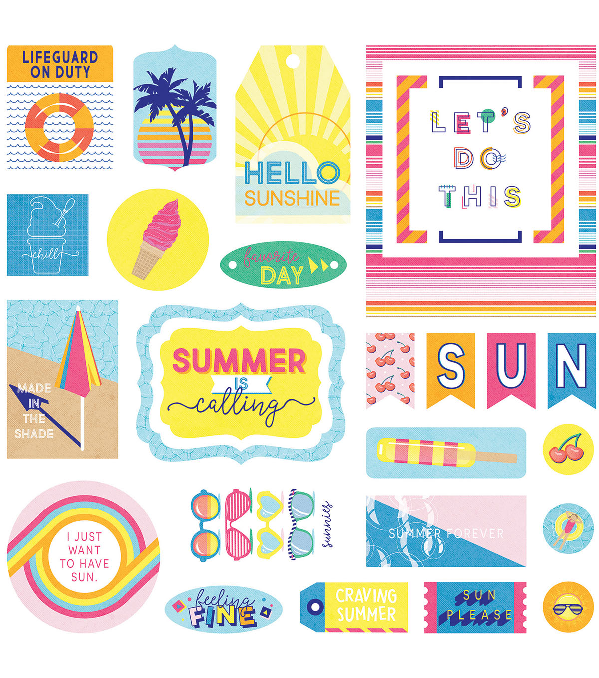 Photo Play Those Summer Days 29 pk Cardstock Die-Cuts