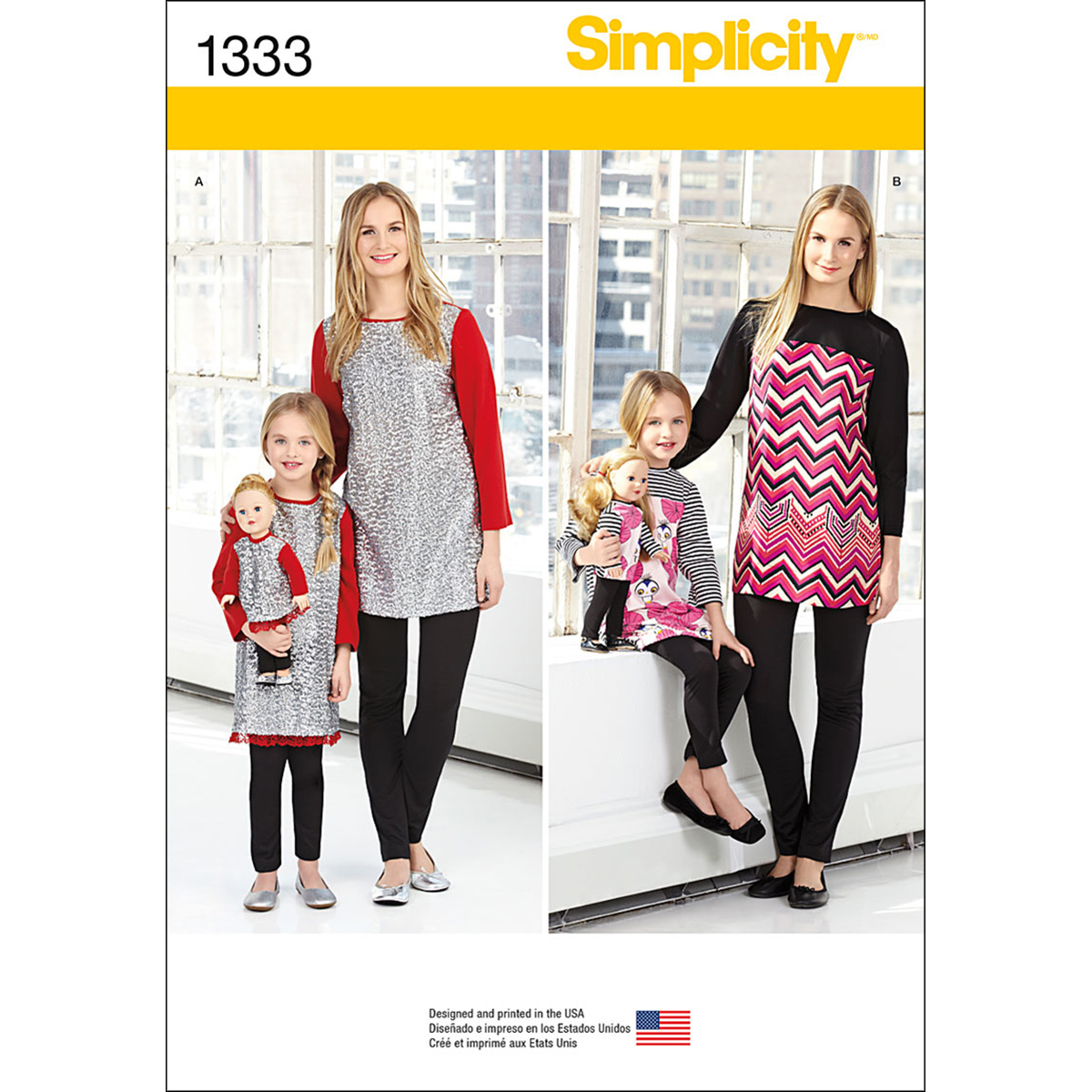 Simplicity Pattern 1333A 3 - 8 /Xs--Child Sportswear