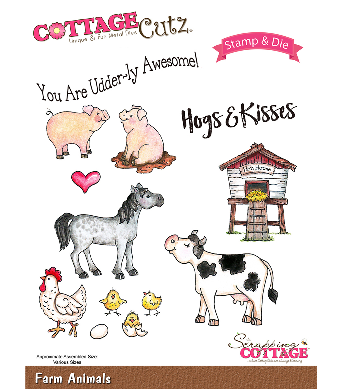 CottageCutz Stamp & Die Set-Farm Animals