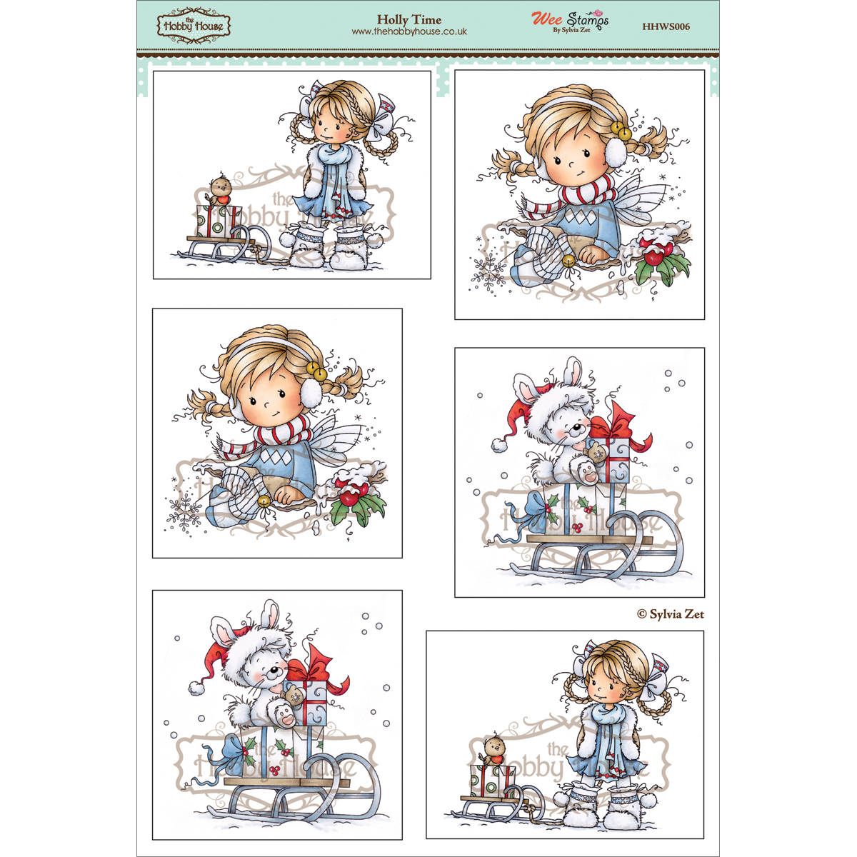 The Hobby House Wee Topper Sheet Holly Time