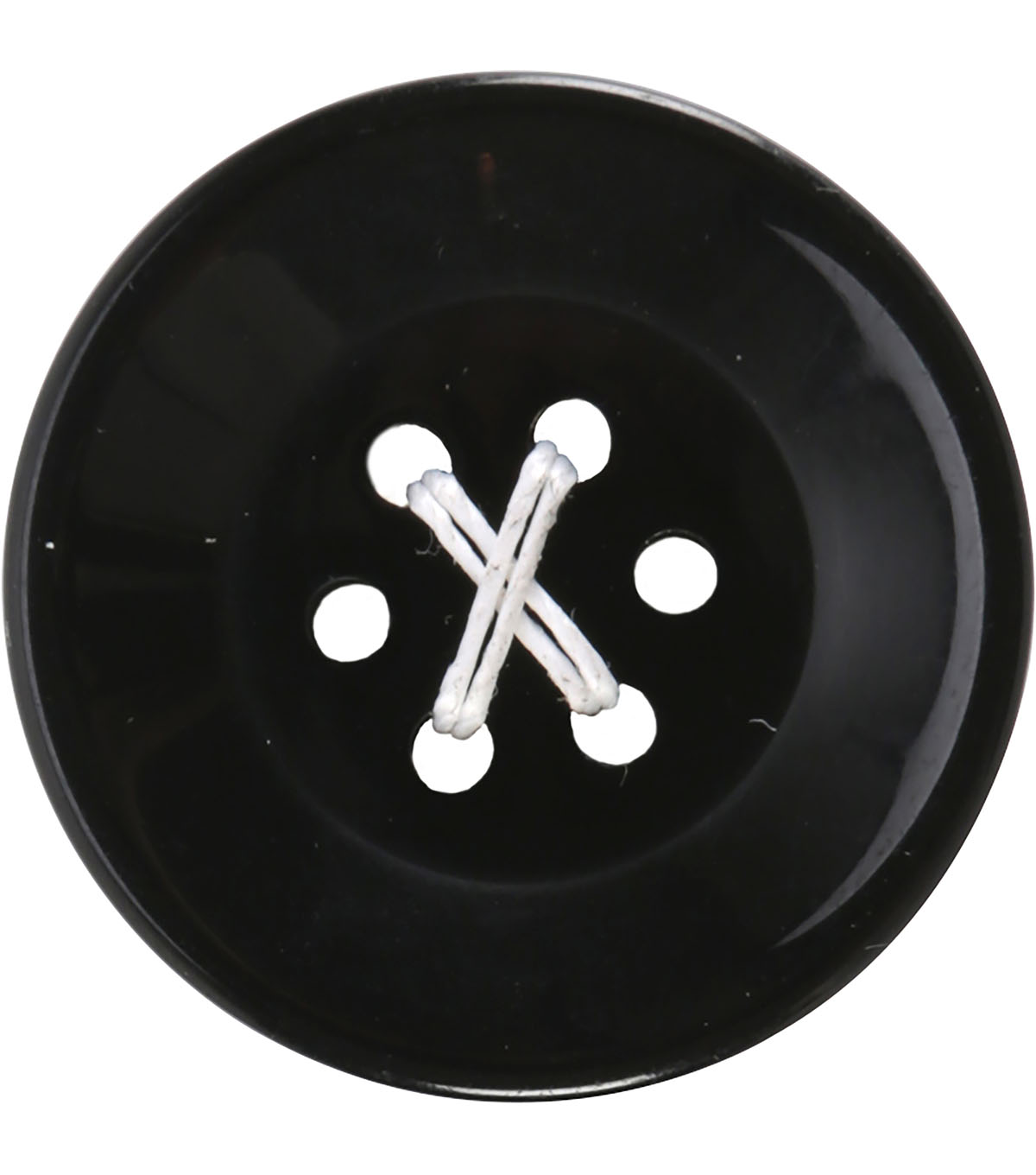 Crafting with Buttons 2 pk Small 6 Hole Buttons-Black