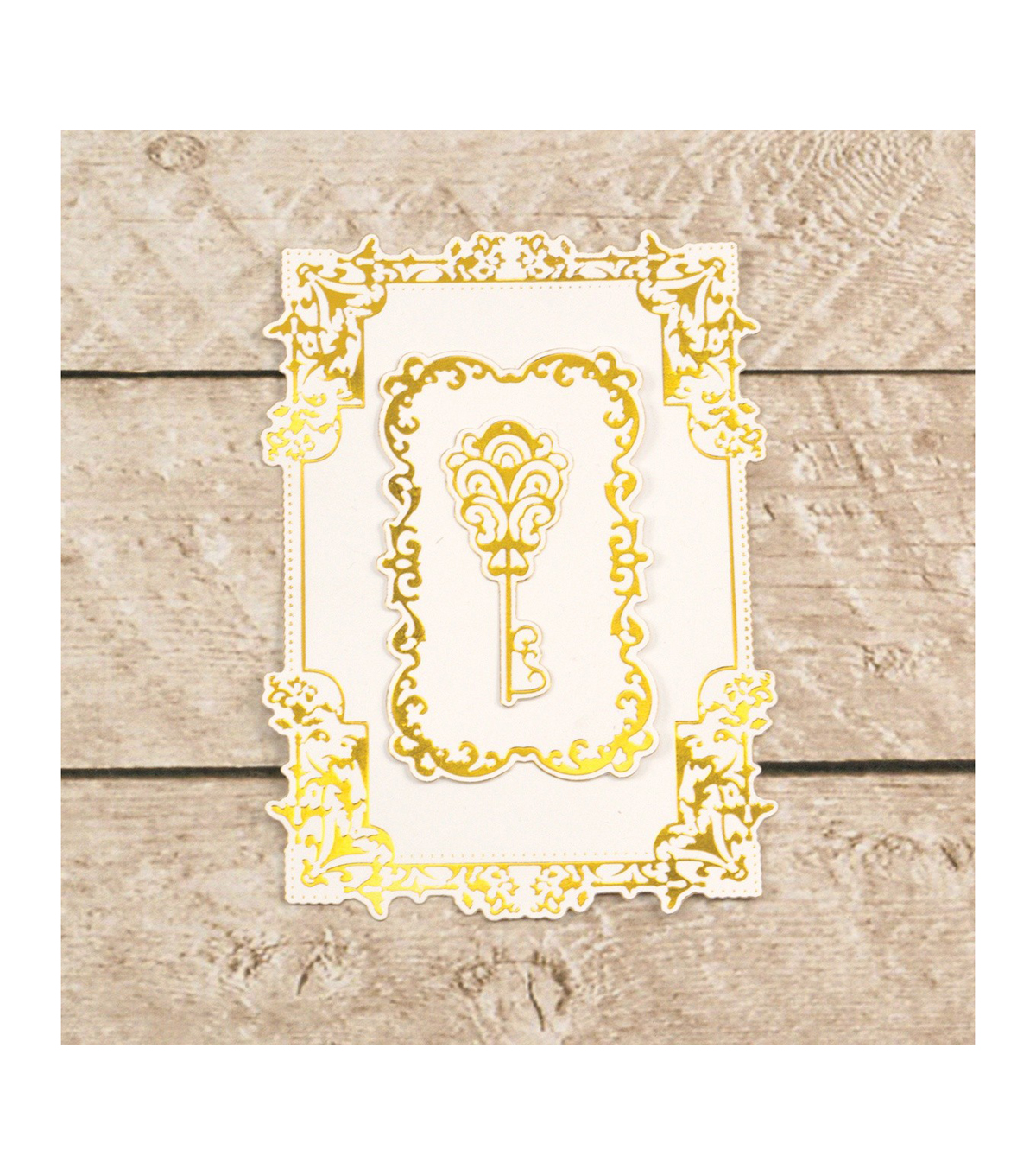 Couture Creations Cut, Foil & Emboss Nesting Dies-Treasured Frames