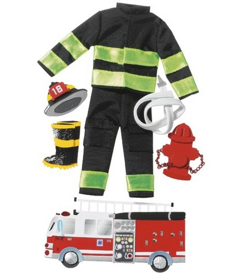 Jolee\u0027s Boutique Le Grande Dimensional Sticker-Firefighter
