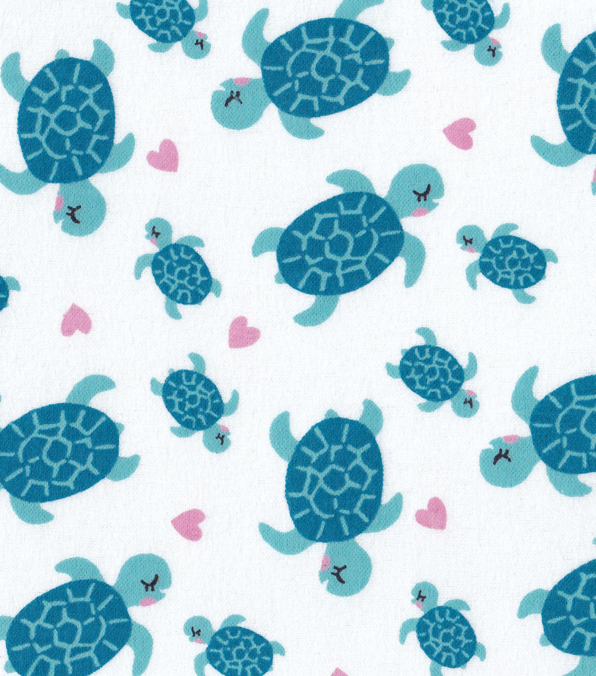 Snuggle Flannel Fabric -Mermaid Turtles