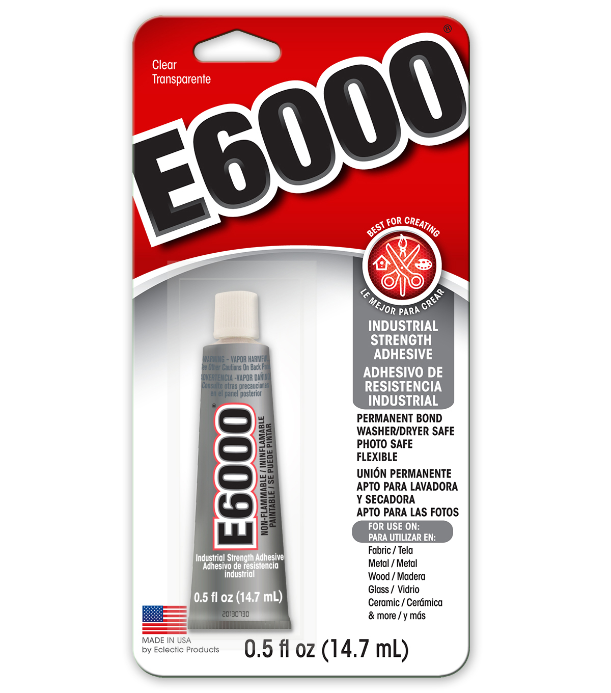 Eclectic E6000 Multipurpose Adhesive-.5oz Clear