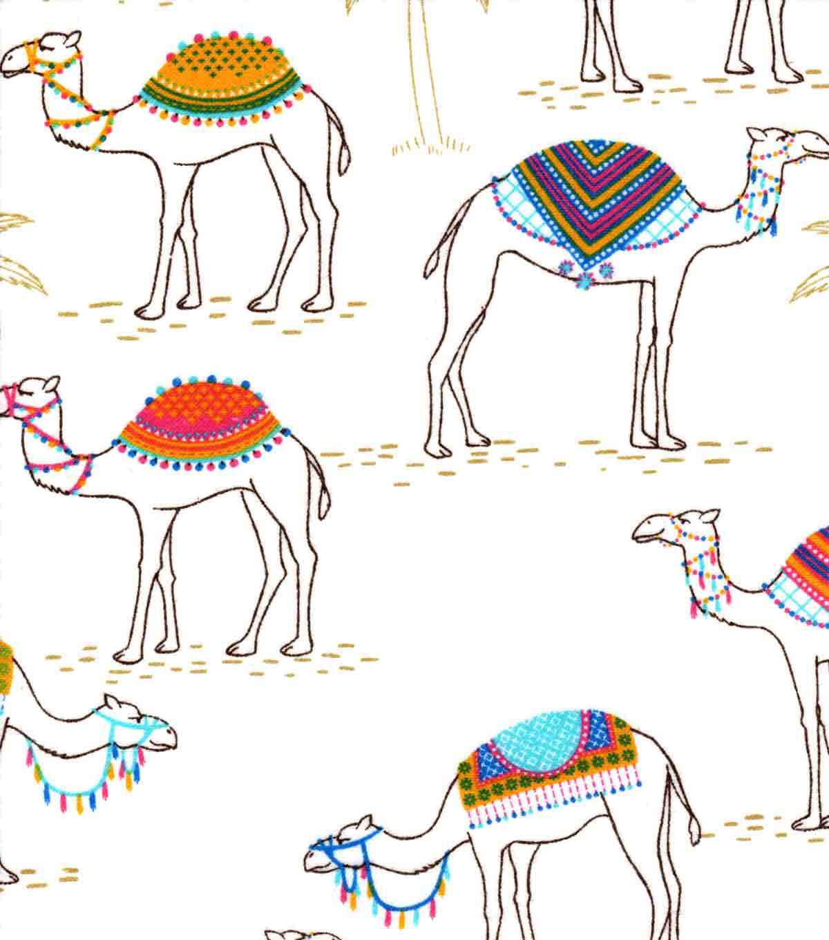 Snuggle Flannel Fabric -Trendy Camels | JOANN