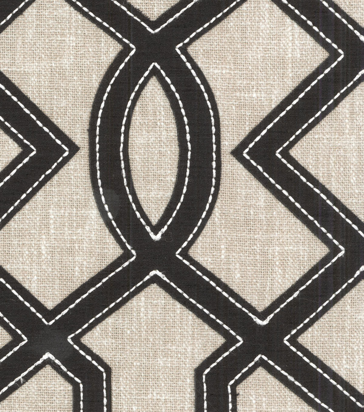 Waverly Upholstery Fabric 13x13\u0022 Swatch-Cutout Emb Onyx