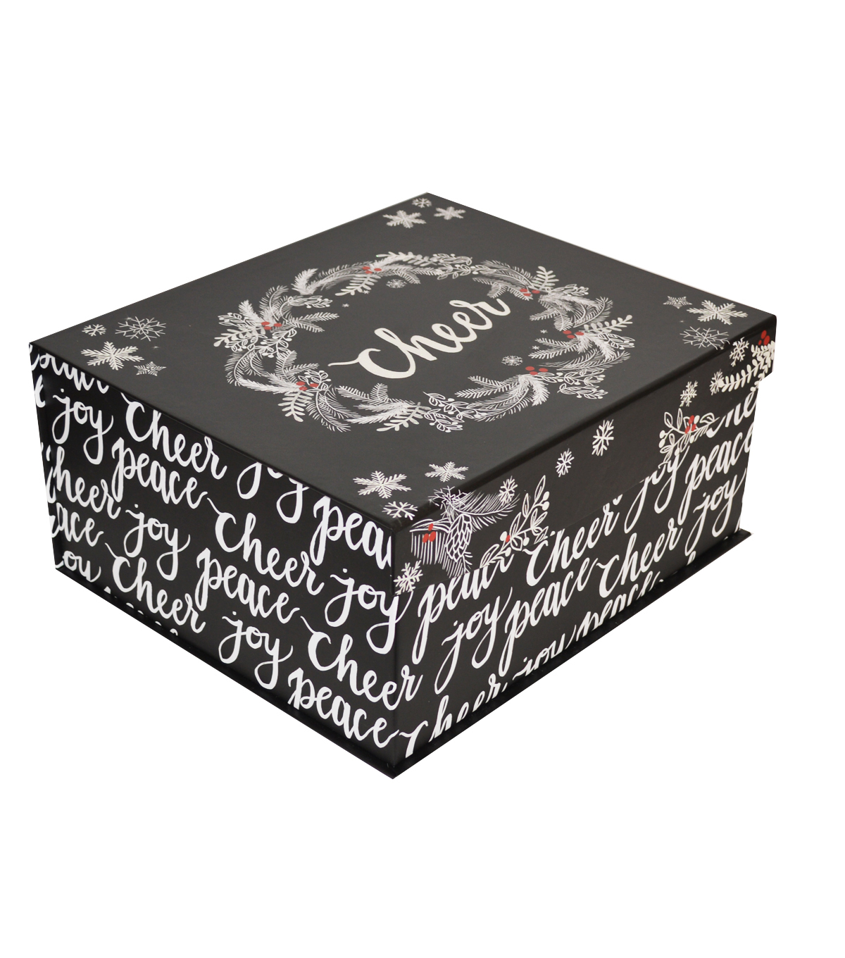 Maker\u0027s Holiday Christmas Large Fliptop Storage Box-Snowy Birches