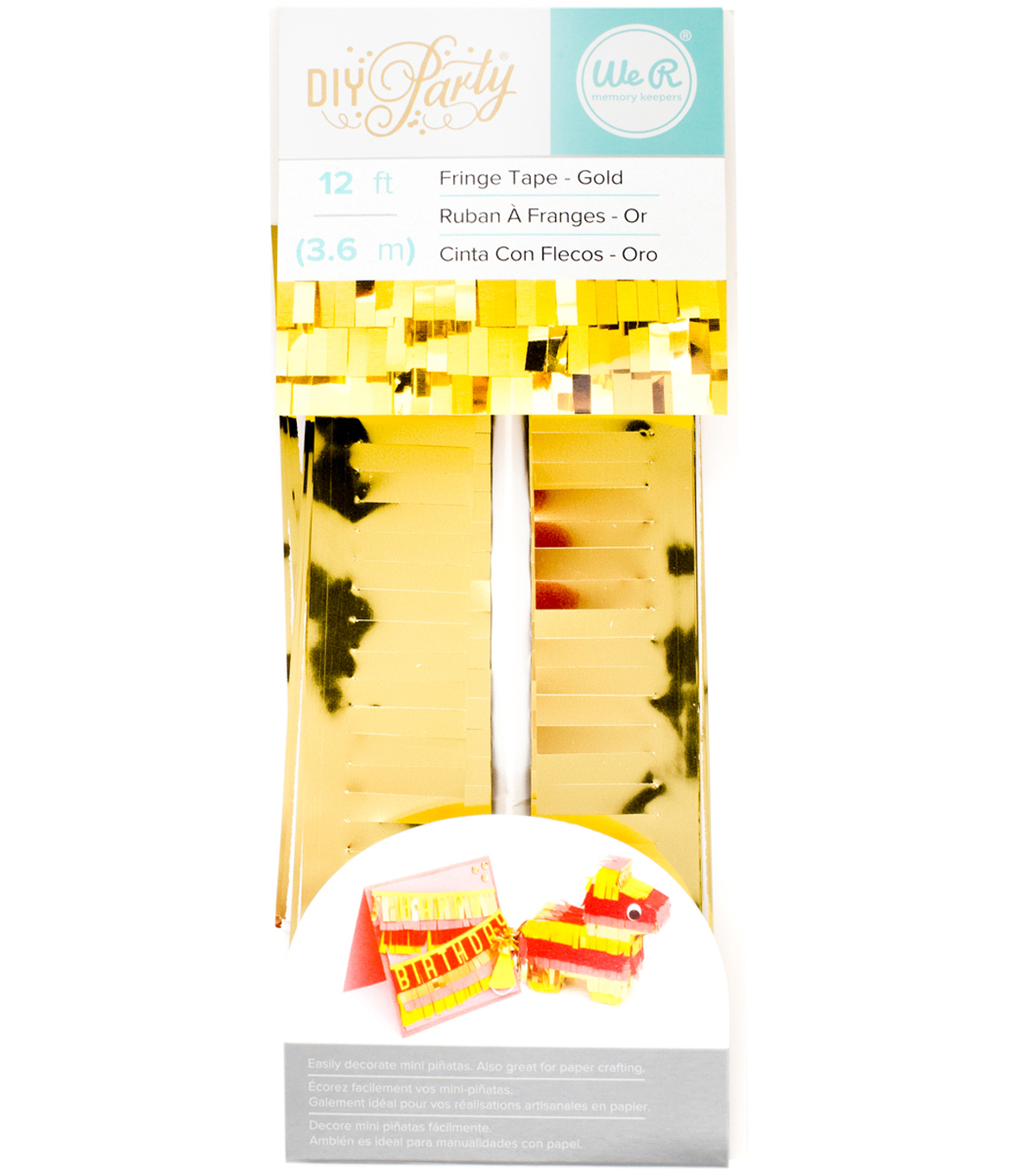 We R Memory Keepers DIY Party 12\u0027 Fringe Tape-Gold