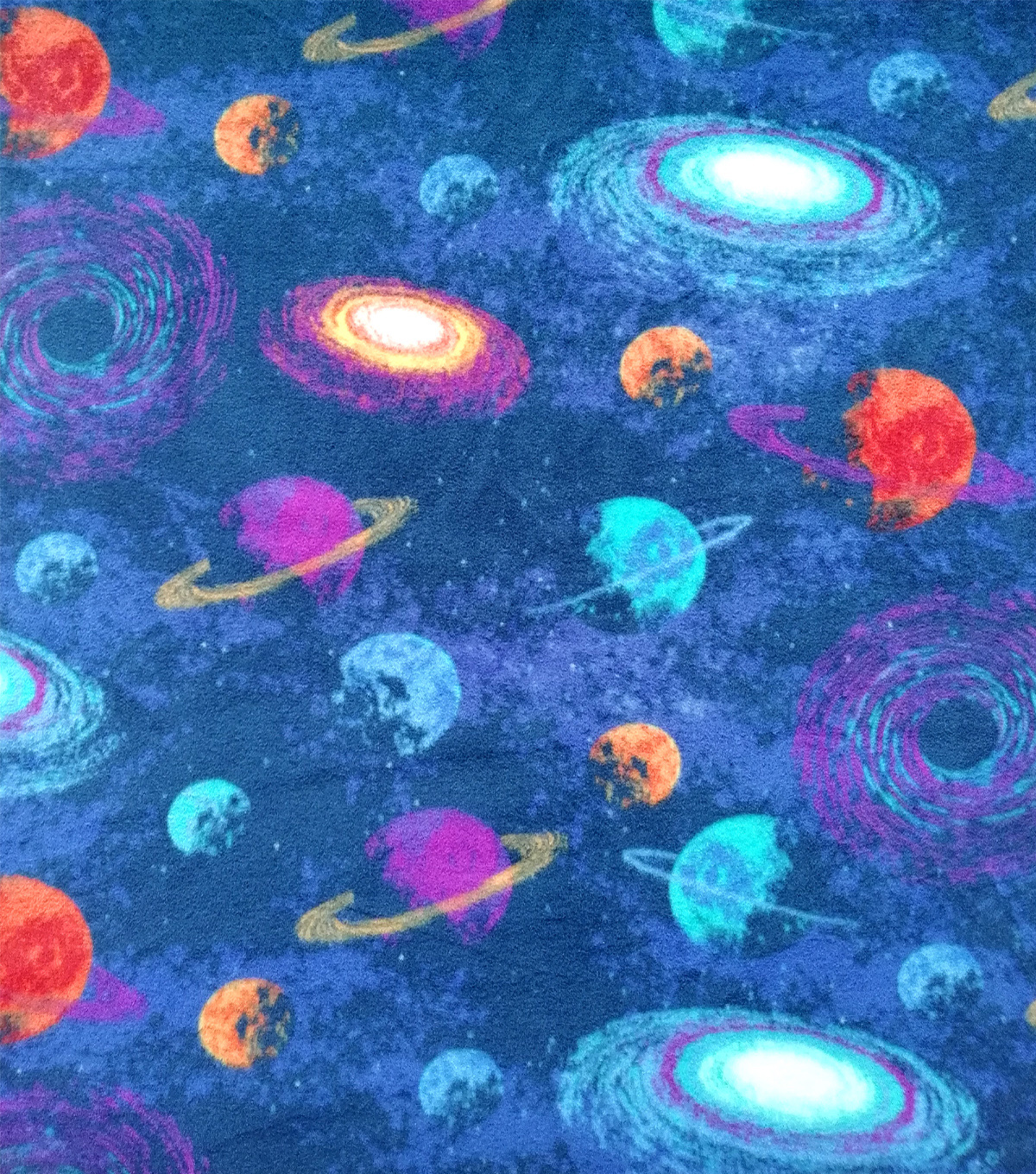 Anti-Pill Plush Fleece Fabric-Glorious Galaxy