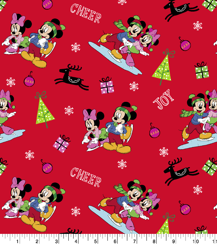 disney mickey friends christmas cotton fabric holiday - Disney Christmas Fabric