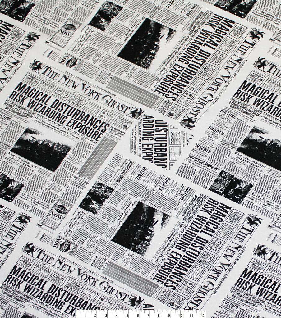 Fantastic Beasts Cotton Fabric -New York Ghost