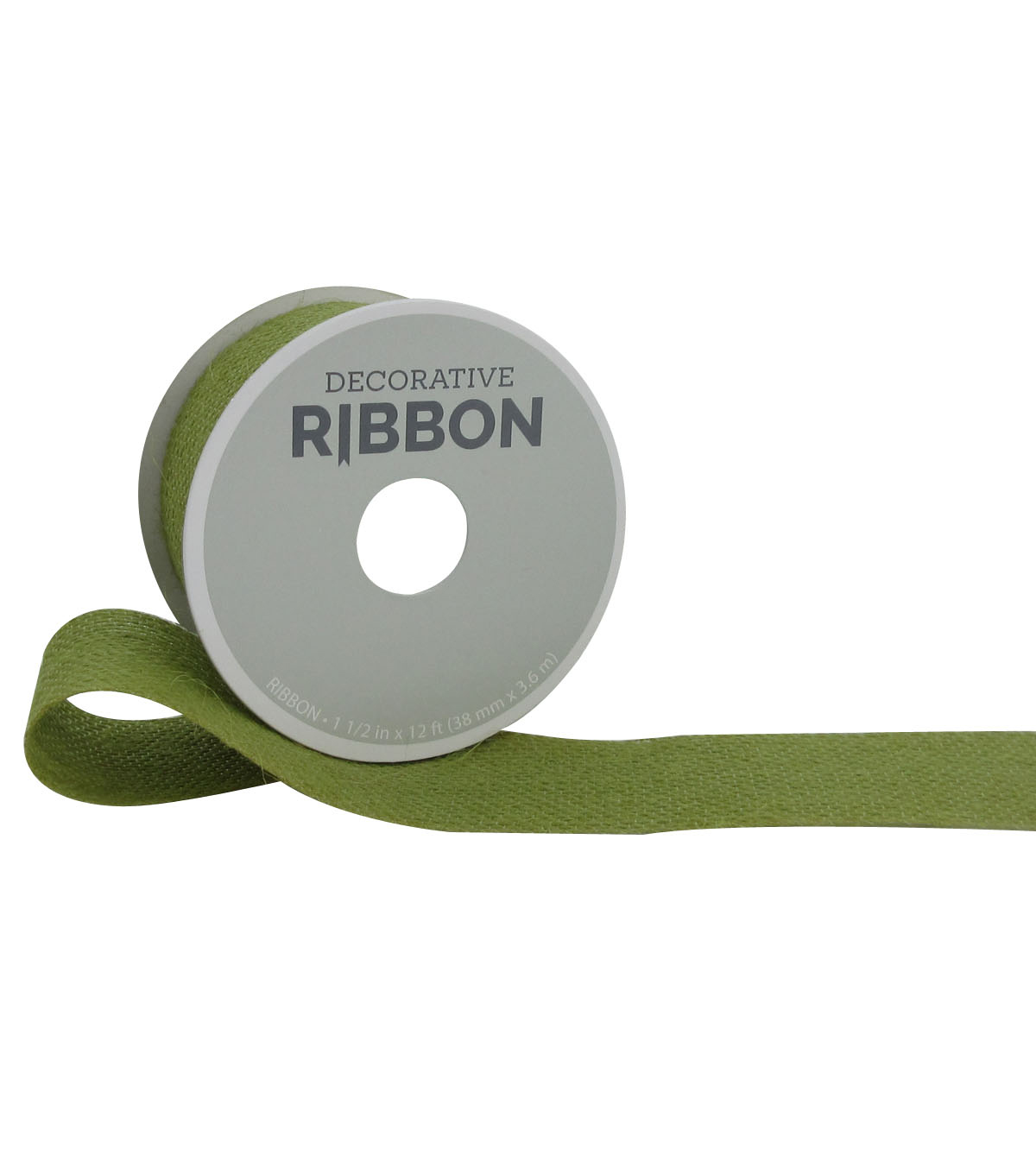 Decorative Ribbon 1.5\u0022 Burlap Ribbon-Moss Green