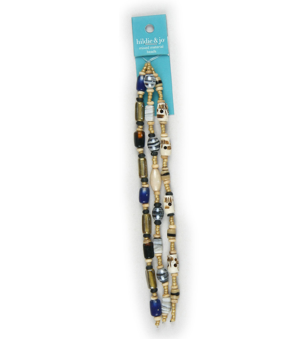 hildie & jo Multi Glass & Bone Strung Beads-Cream