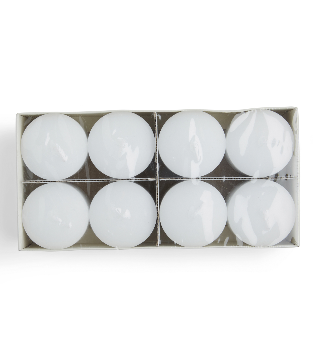Hudson 43 Candle & Light Collection 8pk 2\u0022 Unscented Pillar Candles-White