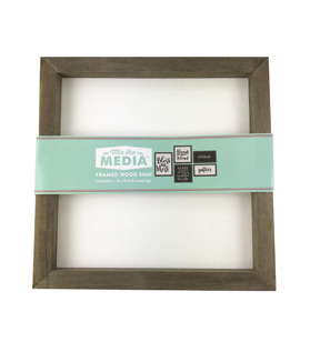 10\u0022 X 10\u0022 Mixed Media Framed White with Rustic Sides