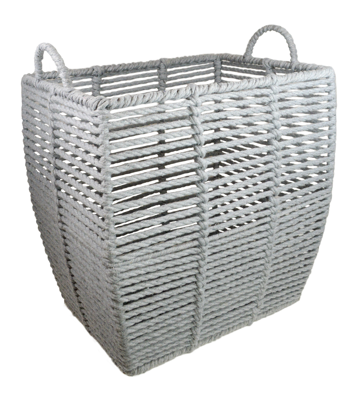 Grey Basket with Circle Handles