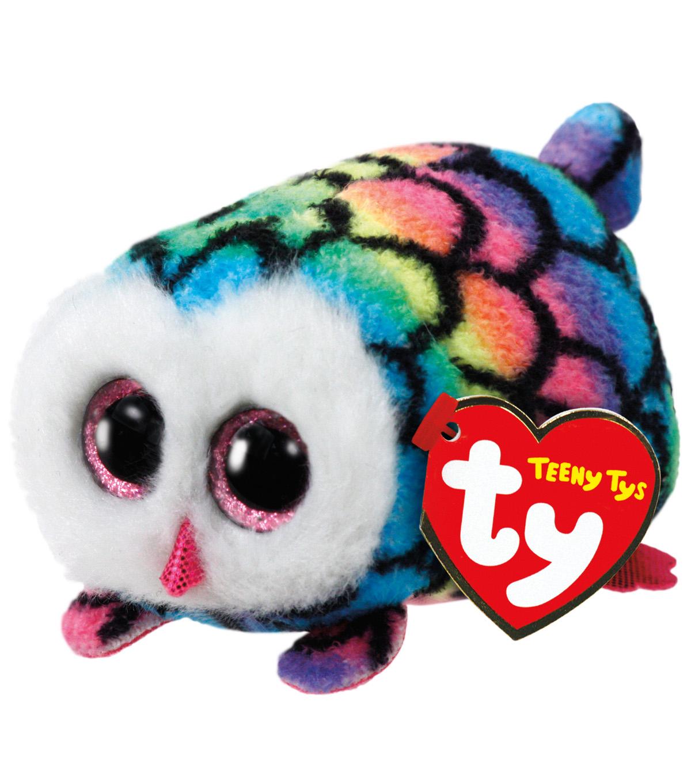 TY Beanie Boo Multi Color Owl-Hootie  4cbaf021811