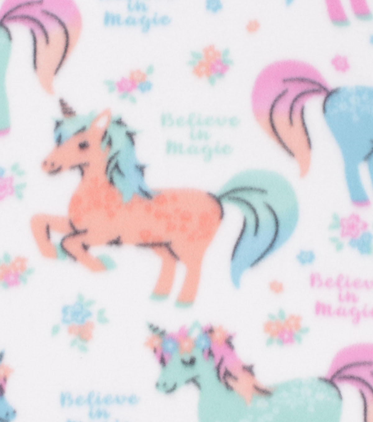 Blizzard Fleece Fabric-Believe in Magic & Unicorns