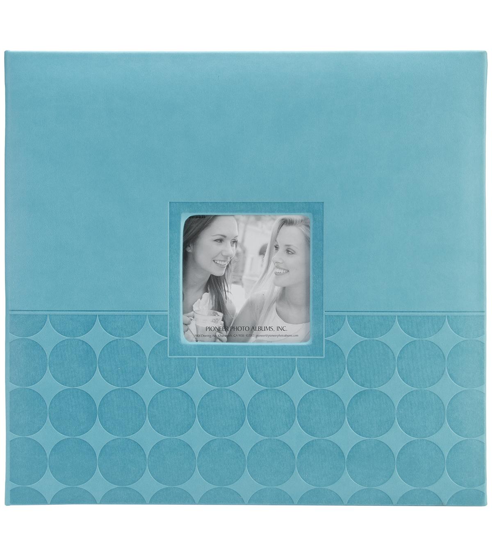 Embossed Post Bound Scrapbook Album 12x12 Aqua Circles Joann
