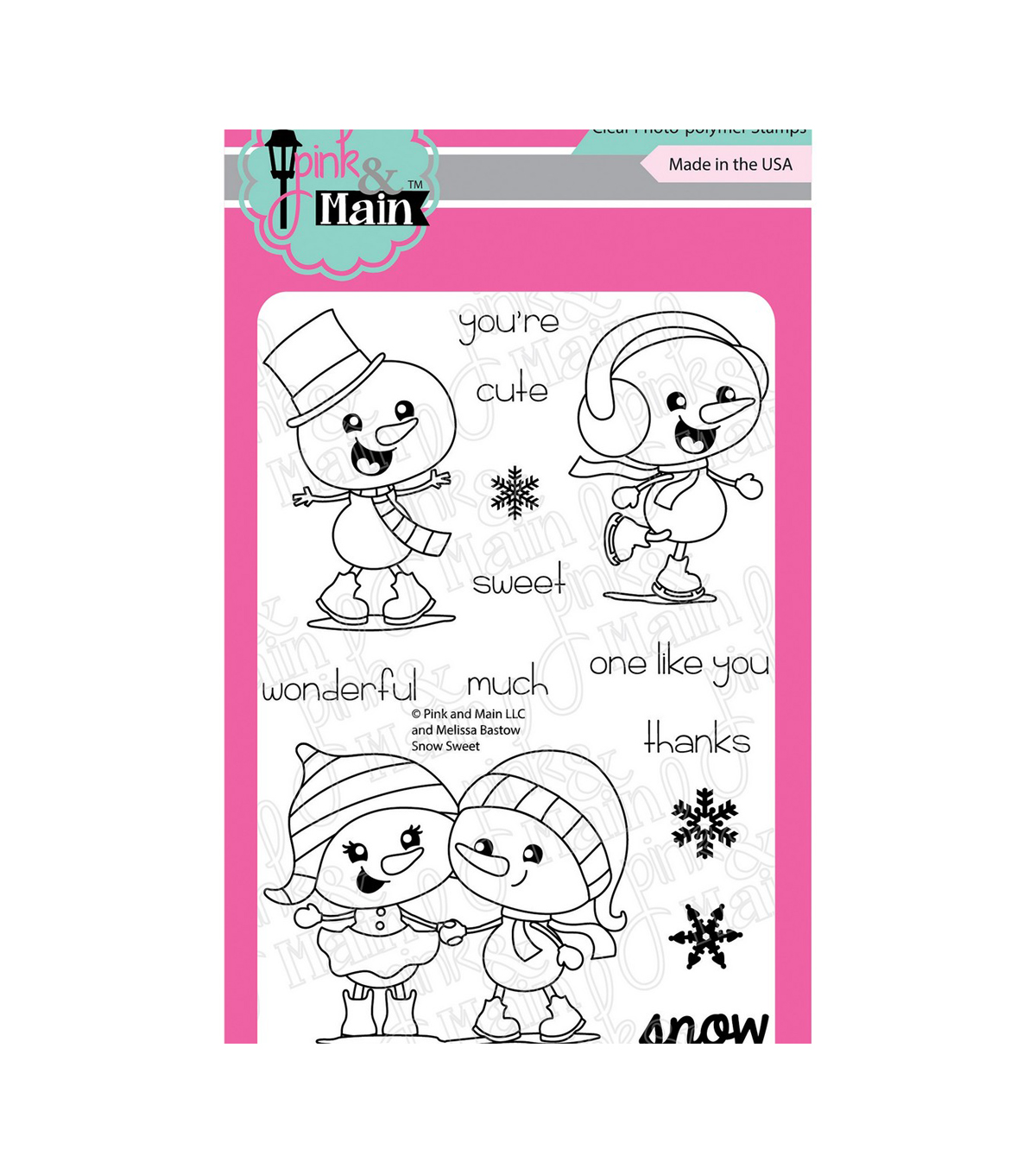 Pink & Main Clear Stamps-Snow Sweet