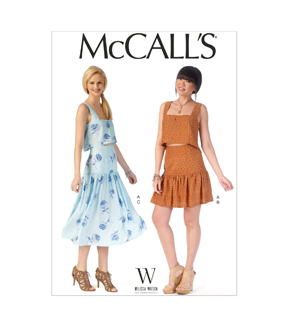 McCall\u0027s Pattern- M7166-D50 Misses\u0027 Tops and Skirts-12-14-16-18-20