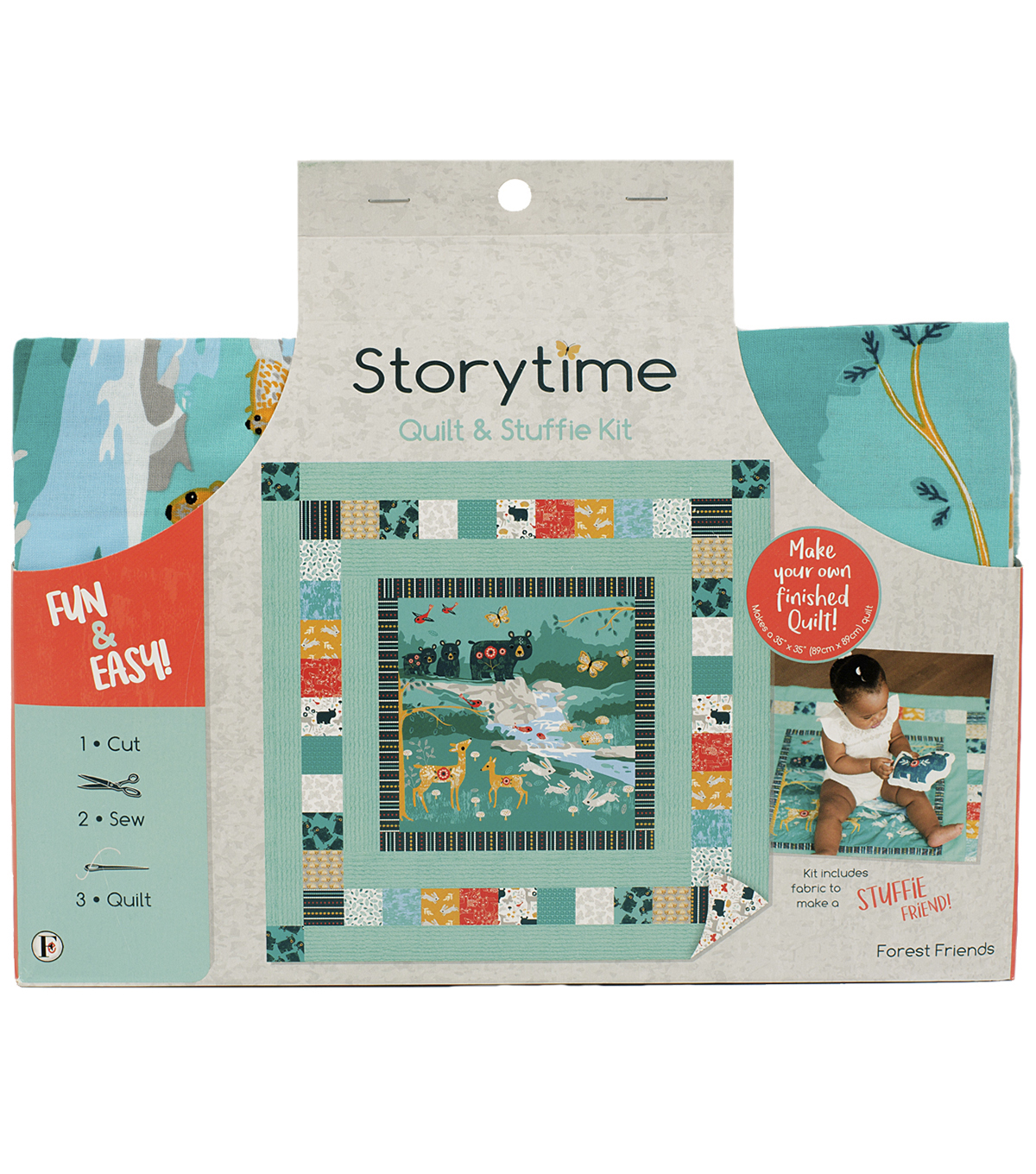 Storytime Quilt & Stuffie Kit-Forest Friends